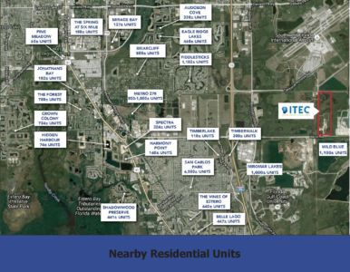 nearby residential units